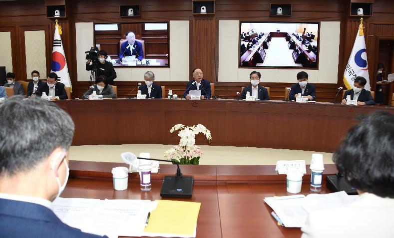 ▲ 공유숙박 법제화가 거론된 혁신성장전략회의 현장