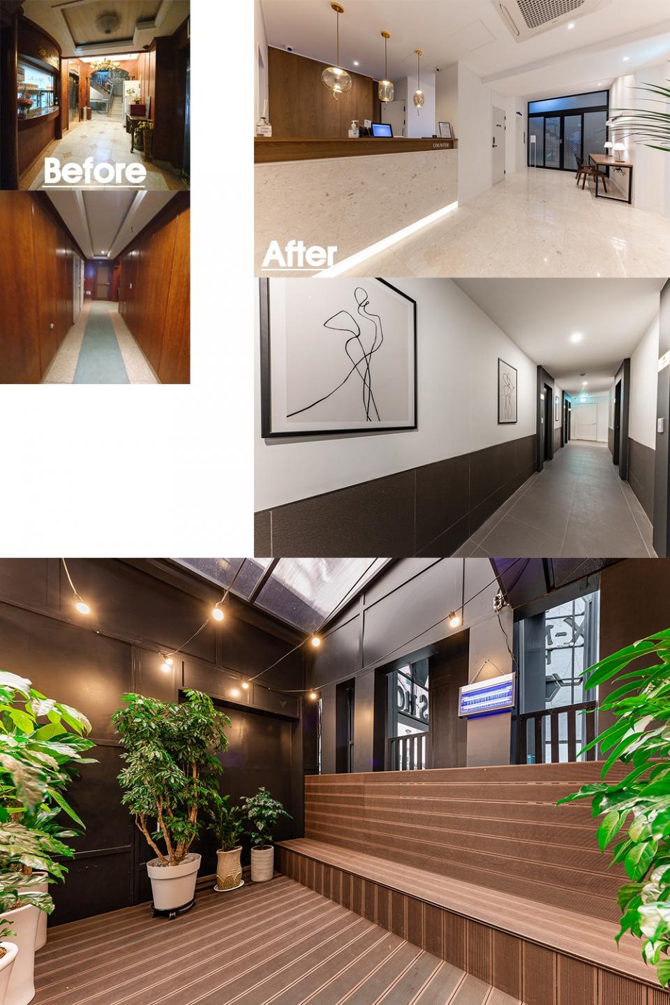 ▲ 넓음 공간감과 트렌디한 감각이 인상적인 로비, 편의공간, 복도
