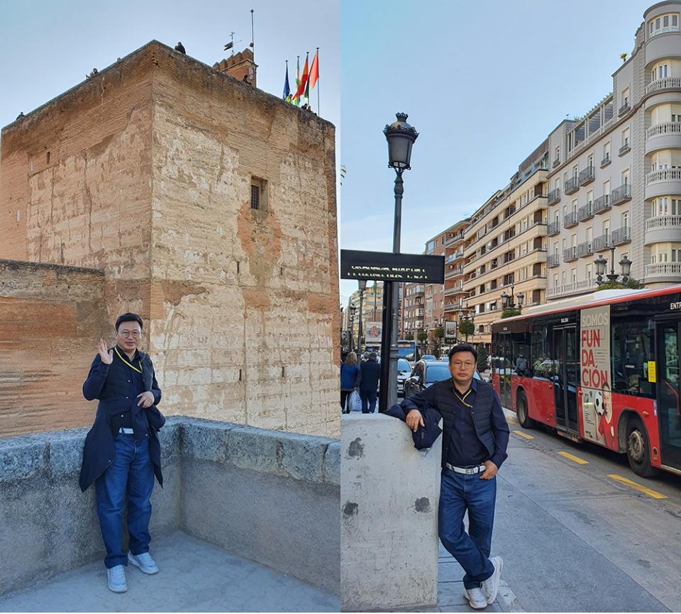 ▲ 알함브라 궁점과 그라나다 시내를 방문한 이영환 대표