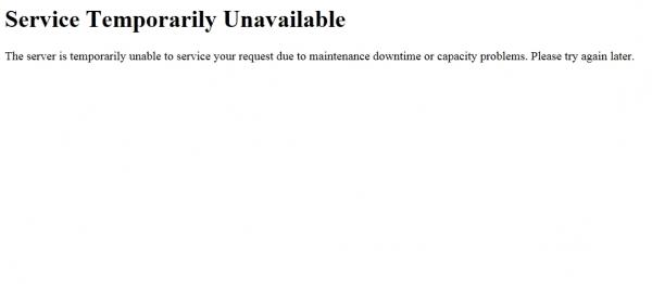 ▲ 접속이 불가능한 여기야 공식 홈페이지